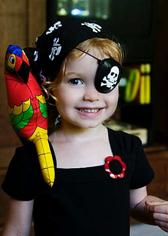 Baby G as a pirate
