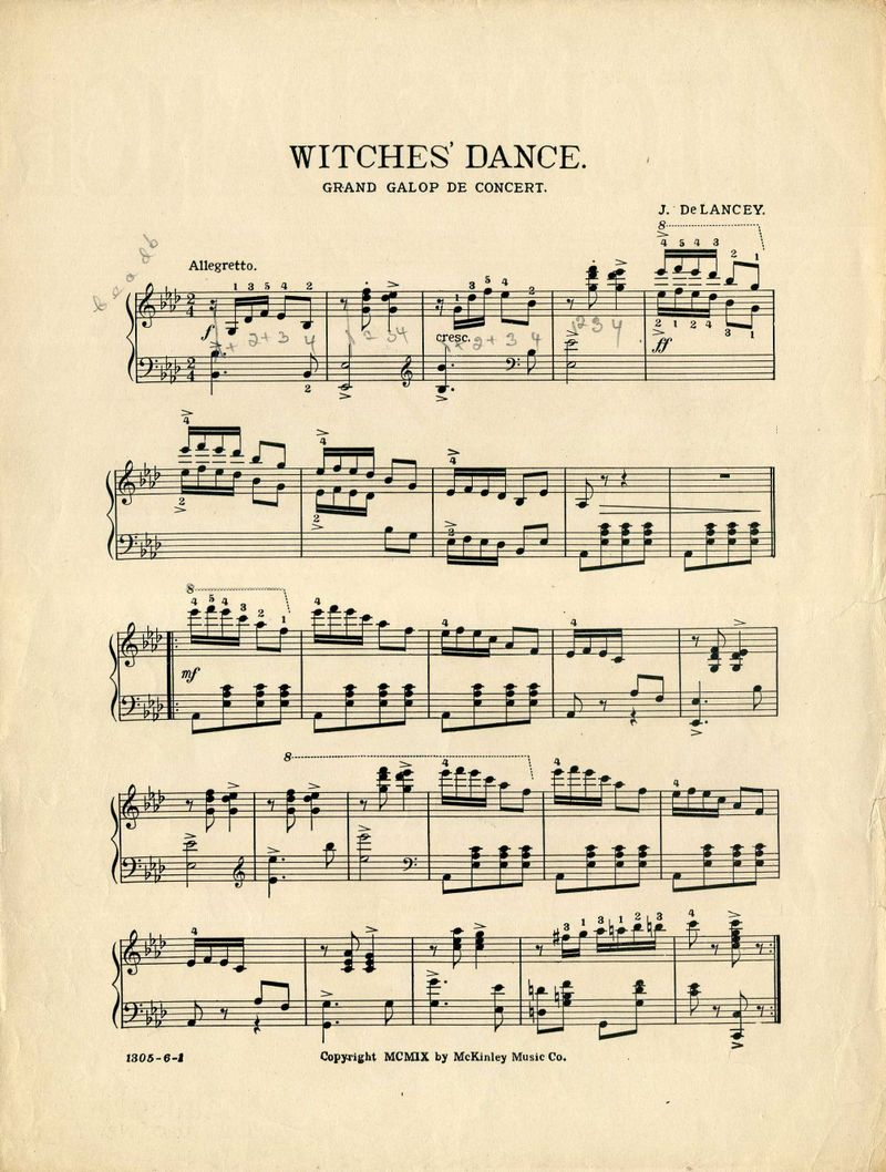 Witches Dance Notes