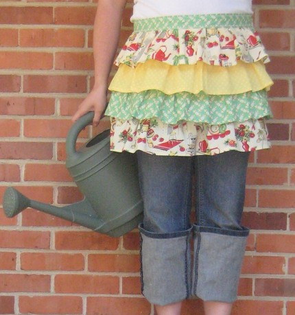 SplendidMinta on Etsy Ruffled Half Apron