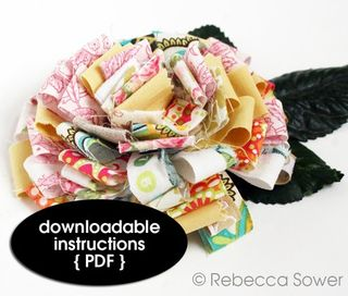 Sower Fabric Scrap Flower