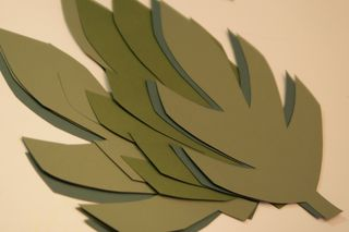 We will always have paris tutorial jungle vines for a for Jungle leaf templates to cut out