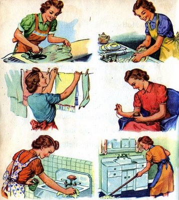 Vintage housewife chores