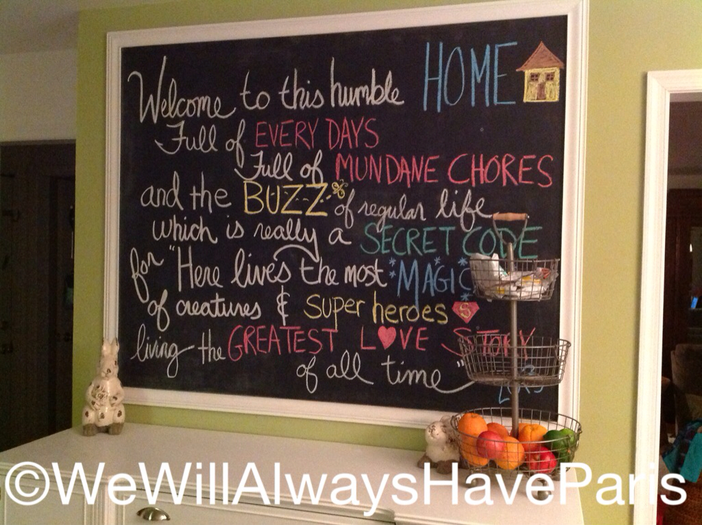 chalkboard love spring 2013 - Kitchen Chalkboard Ideas