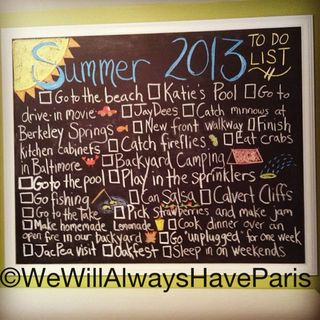 Chalkboard Love Summer 2013