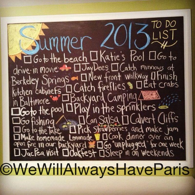 Chalkboard Love Summer 2013