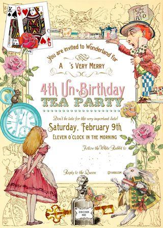 Alice Invitation No Names