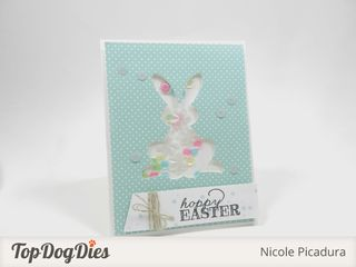 TopDogDies Easter Bunny Shaker Card