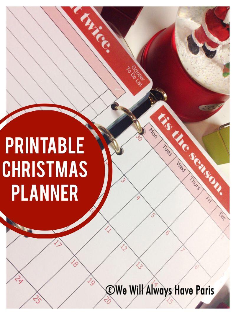 WWAHP Christmas Printable Planner