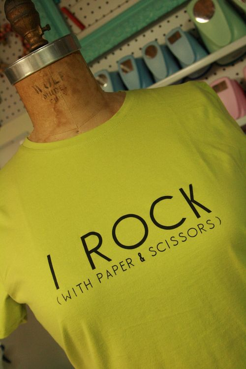 """I Rock (With Paper & Scissors )"" Fitted T-Shirt"