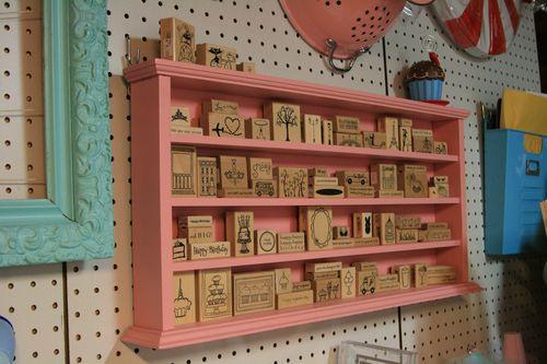 Pink shelving
