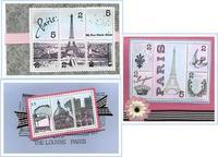 Parisian Faux Postage Cards